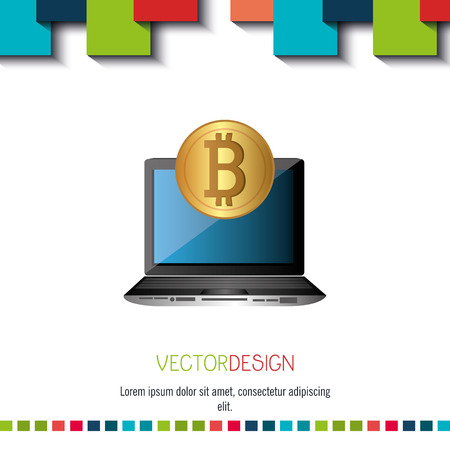 e cash: bit coins design, vector illustration eps10 graphic
