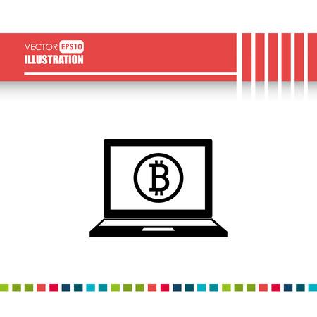 bit: bit coins design, vector illustration eps10 graphic