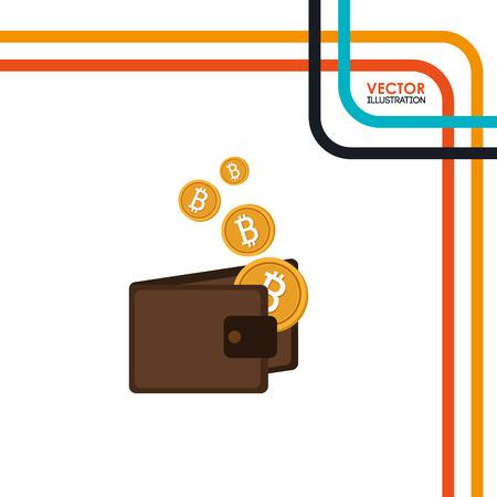 e commerce icon: bit coins design, vector illustration eps10 graphic
