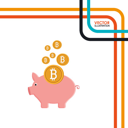 bit: bit coins design, vector illustration eps10 graphic
