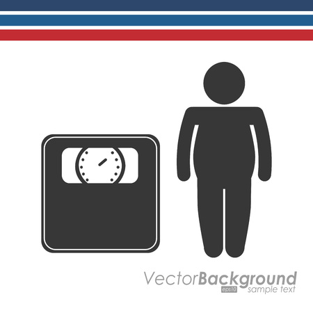 lose balance: lose weight design, vector illustration eps10 graphic