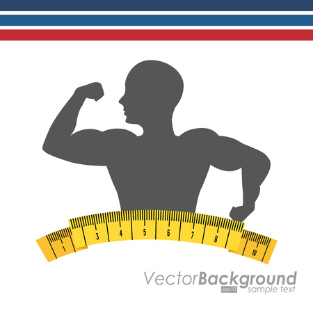 strong men: fitness sport design, vector illustration eps10 graphic