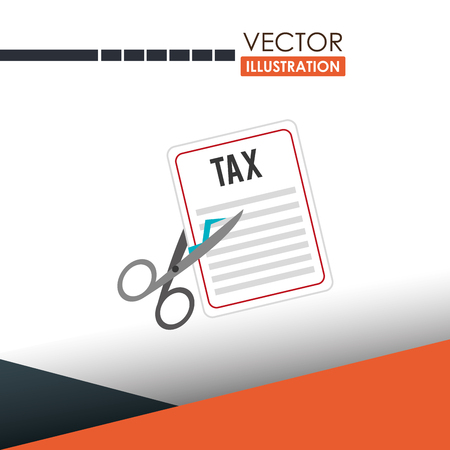 pay cuts: tax time  design, vector illustration eps10 graphic