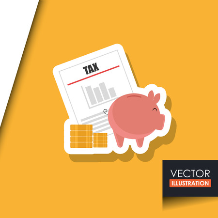 taxed: tax time design, vector illustration eps10 graphic Illustration