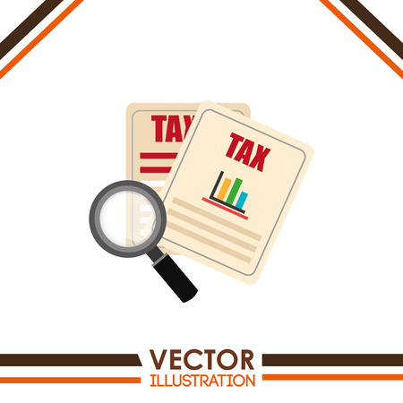 taxed: tax time  design, vector illustration eps10 graphic