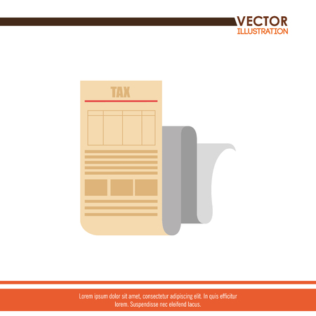 taxation: tax time  design, vector illustration eps10 graphic