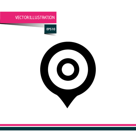 interface scheme: target icon design, vector illustration eps10 graphic