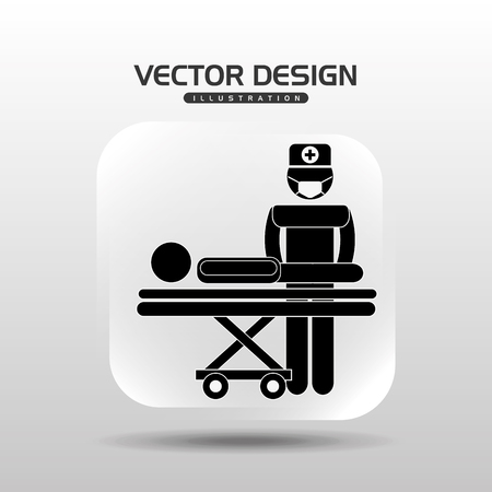 healthcare worker: medical care icon design, vector illustration eps10 graphic
