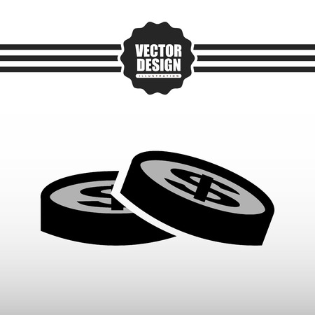 bank records: money icon design, vector illustration eps10 graphic Illustration