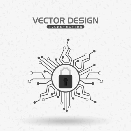 security technology: security system design, vector illustration eps10 graphic Illustration