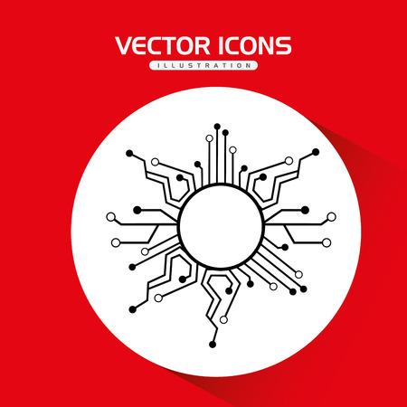 lock  futuristic: security system design, vector illustration eps10 graphic Illustration