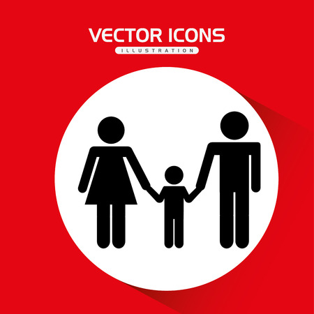 mom and son: family silhouette design, vector illustration eps10 graphic