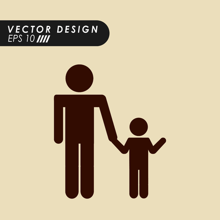 father and child: family silhouette design, vector illustration eps10 graphic