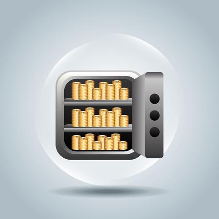 guard box: money icon design, vector illustration eps10 graphic Illustration
