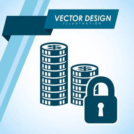 bank records: money icon design, vector illustration eps10 graphic Illustration