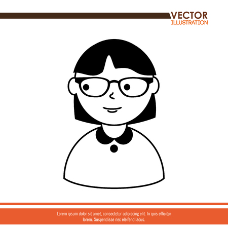 glasses model: avatar person  design, vector illustration eps10 graphic