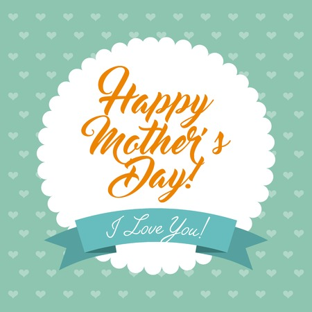 dotted background: happy mothers day design, vector illustration eps10 graphic Illustration