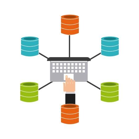 storage: data storage design, vector illustration