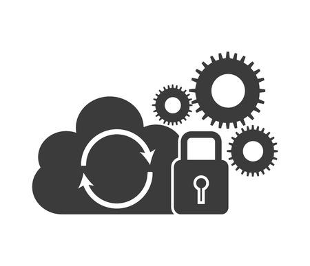 gegevensopslag ontwerp, vector illustratie Stock Illustratie