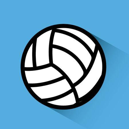 balon de voley: el deporte concepto de diseño, ilustración vectorial
