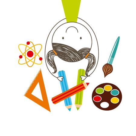 pallette: back to school design, vector illustration