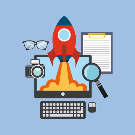 start up: start up design, vector illustration Illustration