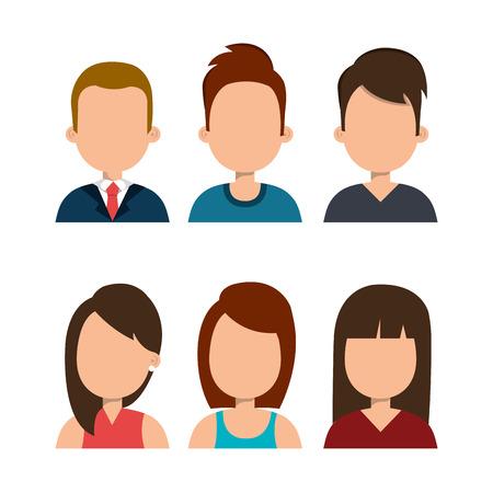 modelos hombres: persona diseño avatar, ejemplo gráfico del vector eps10