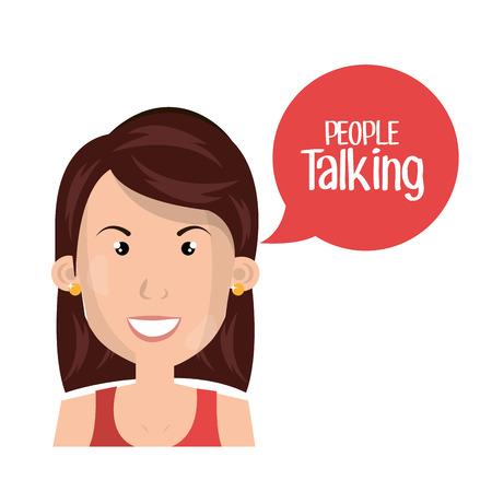 mensen praten ontwerp, vector illustratie