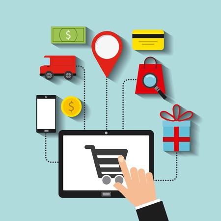 diseño de comercio electrónico, ilustración vectorial