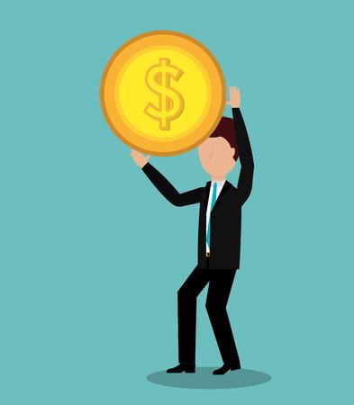 profitable: profitable growth design, vector illustration Illustration