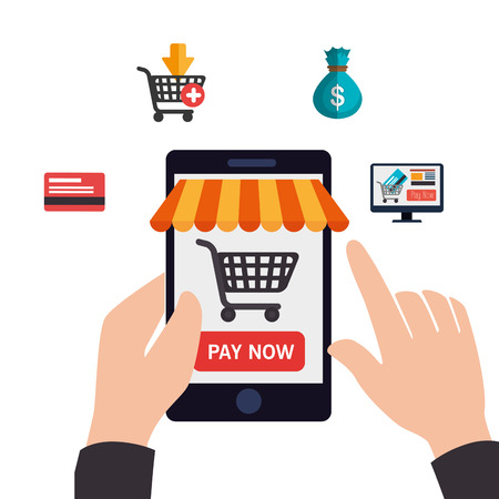 commerce: electronic commerce design, vector illustration