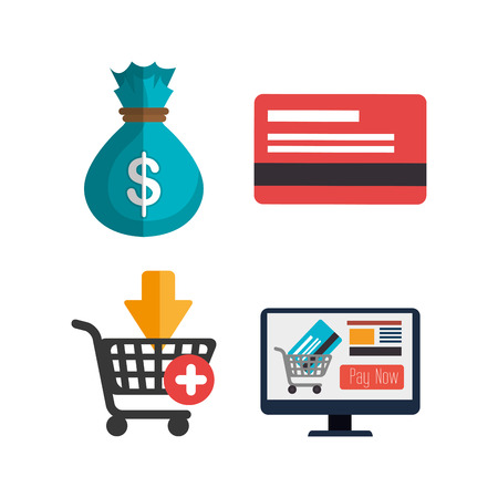 electronic commerce: electronic commerce design, vector illustration