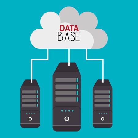 cloud based: data base design, vector illustration eps10 graphic