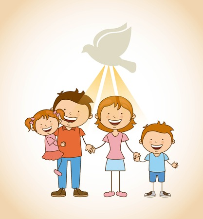 holidays family: god and family design, vector illustration eps10 graphic