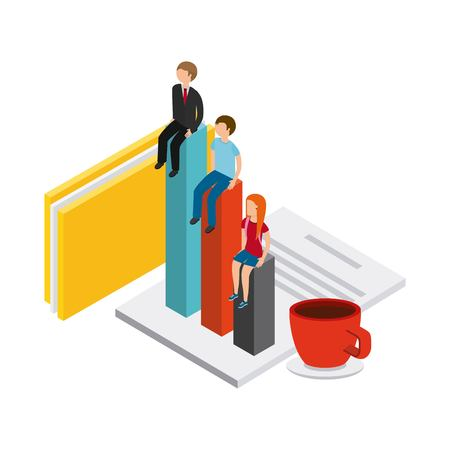 businesspeople: isometric businesspeople design, vector illustration eps10 graphic