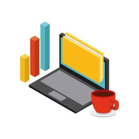 foresight: isometrics business concept design, vector illustration eps10 graphic
