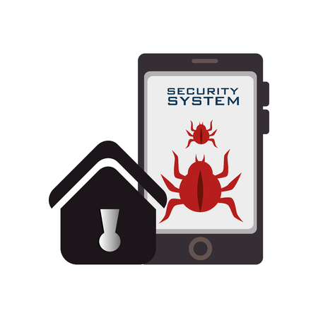 bettle: security system design, vector illustration eps10 graphic Illustration