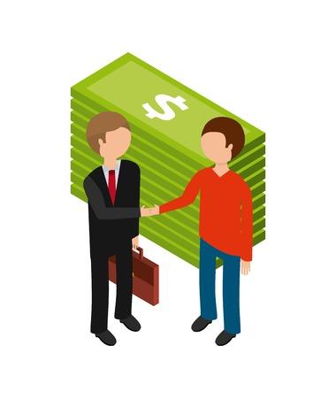 profitability: isometric businesspeople design, vector illustration eps10 graphic