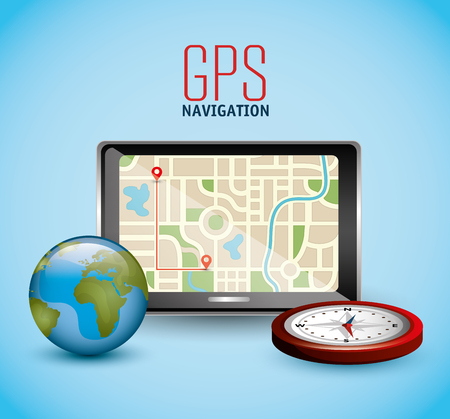 electronic guide: gps navigation design, vector illustration eps10 graphic Illustration