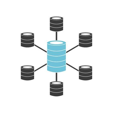 storage data product: data center design, vector illustration eps10 graphic