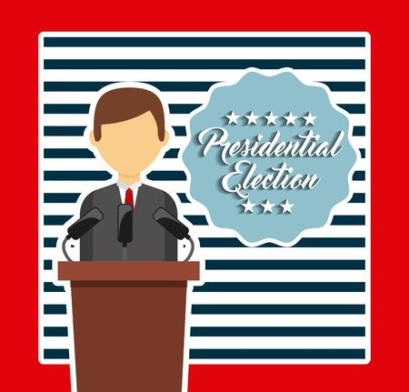 presidency: government elections design, vector illustration eps10 graphic