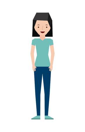 femenine: isolated person design, vector illustration eps10 graphic