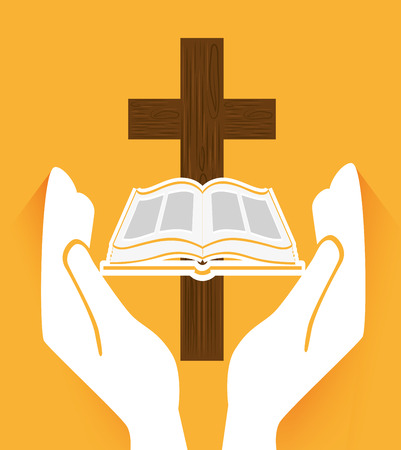 old people reading: holy bible design, vector illustration eps10 graphic
