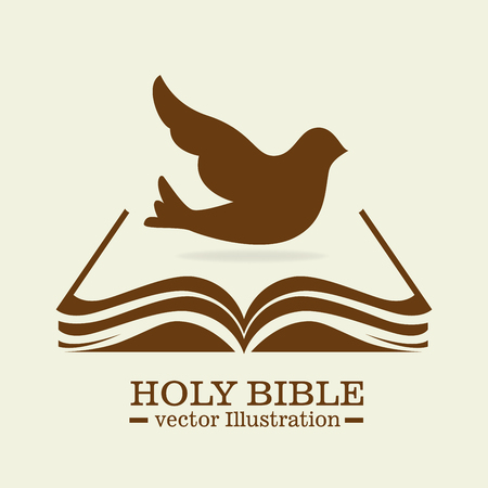 reading bible: holy bible design, vector illustration eps10 graphic