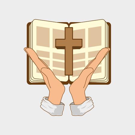 la conception de la Sainte Bible, illustration graphique eps10