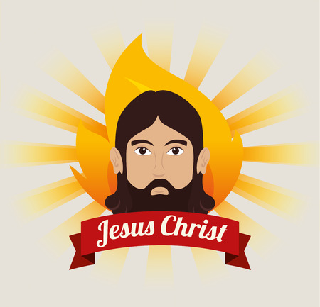catholicism: jesus christ design, vector illustration eps10 graphic