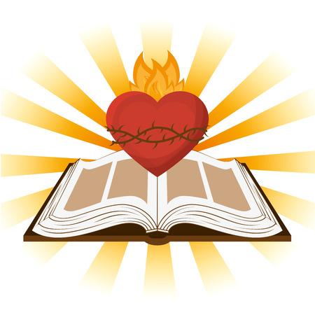 disegno Sacra Bibbia, illustrazione grafica vettoriale eps10