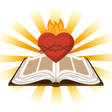 catholicism: holy bible design, vector illustration eps10 graphic