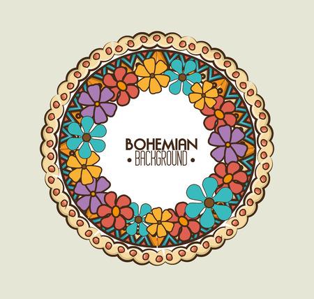 bacground: bohemian bacground design, vector illustration eps10 graphic