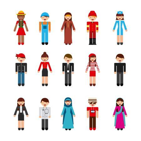 diversidad: diseño de la gente de la diversidad, la ilustración vectorial gráfico eps10